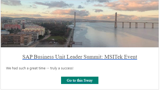 SAP Global Business Unit Leader Summit