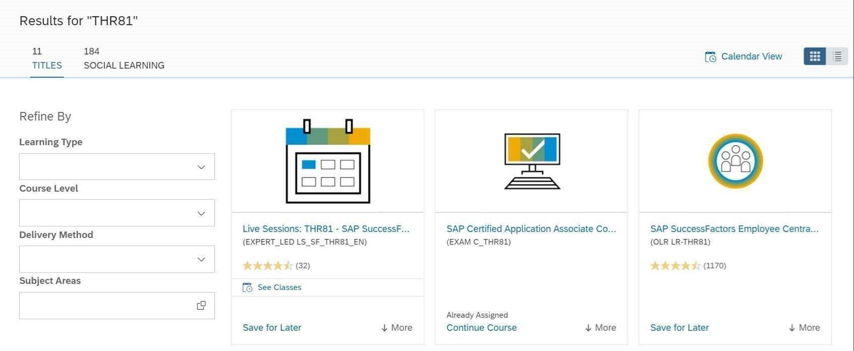 SAP Learning Hub 10