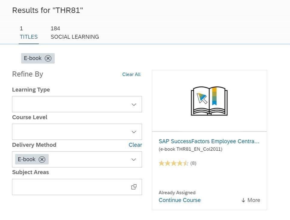 SAP Learning Hub 11