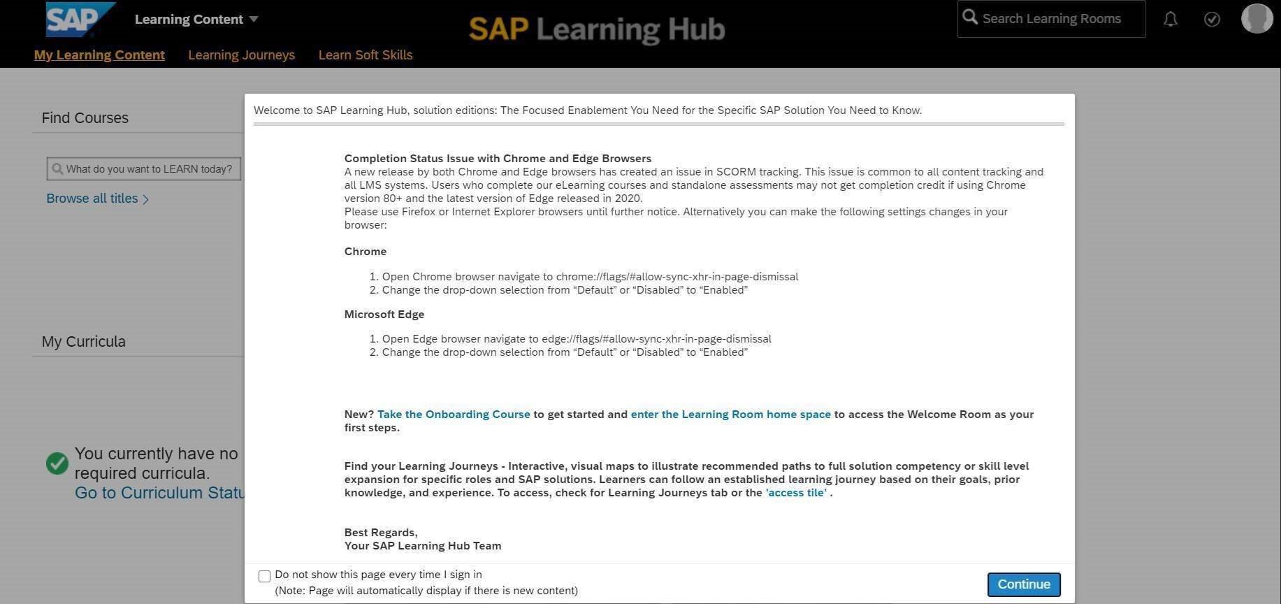 SAP Learning Hub 8